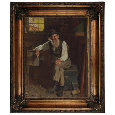 'Living in the Past 1896' Framed Graphic Art Print on Canvas Size: 26.25