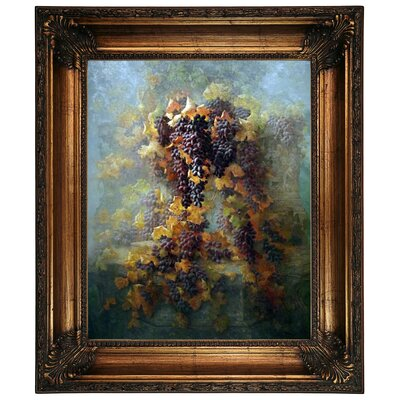 'Grapes and Architecture 1907' Framed Graphic Art Print on Canvas Size: 26.25