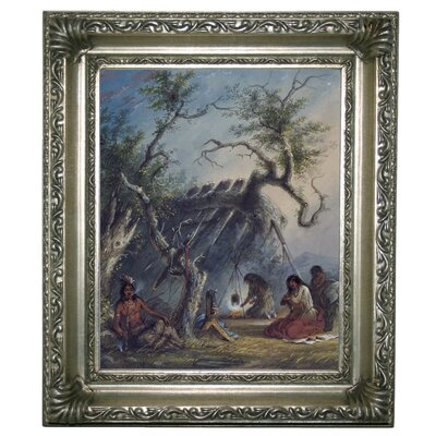 'Indian Lodge 1858' Framed Graphic Art Print on Canvas Size: 13