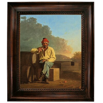 'Mississippi Boatman 1850' Framed Graphic Art Print on Canvas Size: 31