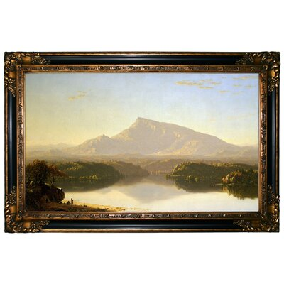 'Wilderness 1860' Framed Graphic Art Print on Canvas Format: Gold/Black Frame, Size: 24.25