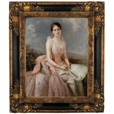 'Portrait of Juliette Gordon Low 1887' Framed Graphic Art Print on Canvas Size: 19.25