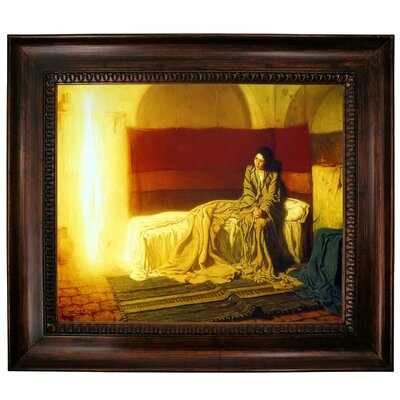 'The Annunciation' Framed Graphic Art Print on Canvas Size: 27