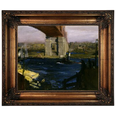 'The Bridge, Blackwells Island 1909' Framed Graphic Art Print on Canvas Size: 22.25