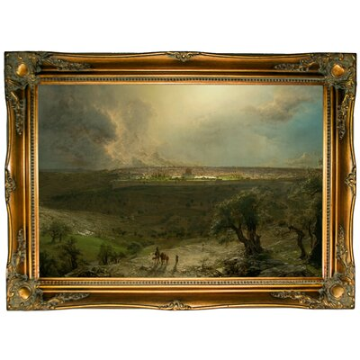 'Jerusalem from the Mount of Olives 1870' Framed Graphic Art Print on Canvas