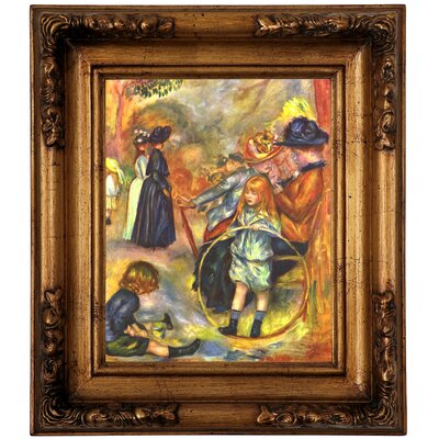 'In the Jardin du Luxembourg' by Pierre-Auguste Renoir Framed Graphic Art Print on Canvas Size: 14.5