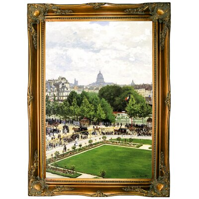 'Garden of the Princess' by Claude Monet Framed Graphic Art Print on Canvas Size: 33.5