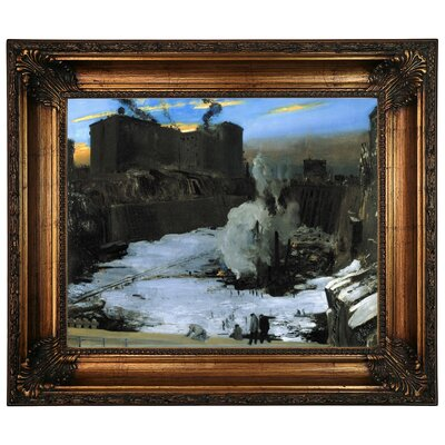 'Pennsylvania Station Excavation 1907-1908' Framed Graphic Art Print on Canvas Size: 22.25