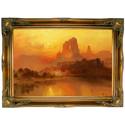'The Golden Hour' Framed Graphic Art Print on Canvas Size: 24.5