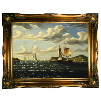 'Staten Island and the Narrows 1835' Framed Graphic Art Print on Canvas
