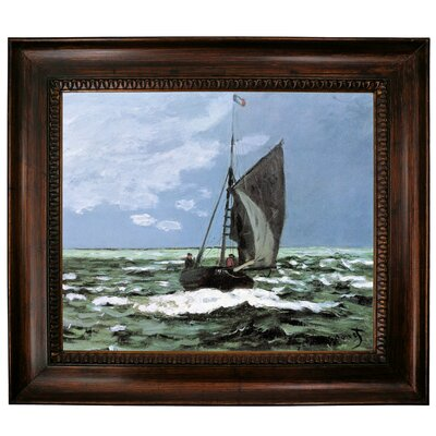 'Storm' by Claude Monet Framed Graphic Art Print on Canvas Size: 27