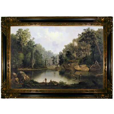 'Blue Hole, Flood Waters, Little Miami River' Graphic Art Print on Canvas Size: 24.25
