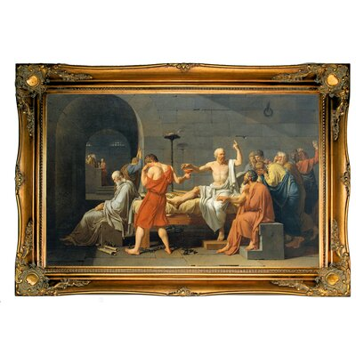 'The Death of Socrates 1787' Framed Graphic Art Print on Canvas
