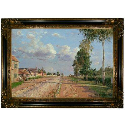 'Route de Versailles, Rocquencourt 1871' Framed Graphic Art Print on Canvas Size: 24.25