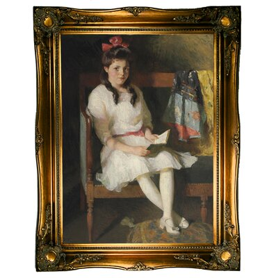 'Portrait of Gertrude Russell 1915' Framed Graphic Art Print on Canvas