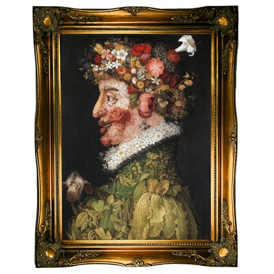'La Primavera 1563' Framed Graphic Art Print on Canvas