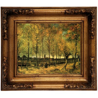 'Lane with Poplars' by Vincent van Gogh Graphic Art Print on Canvas Size: 12.5