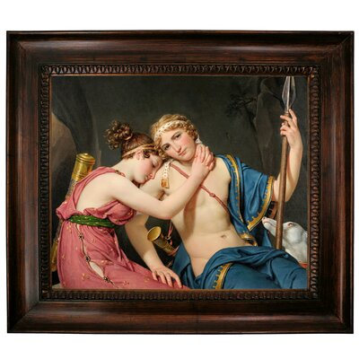 'The Farewell of Telemachus and Eucharis 1818' Framed Graphic Art Print on Canvas Size: 27