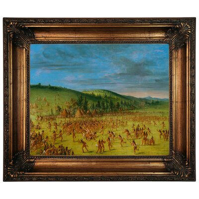 'Ball Play of the Choctaw Ball Up 1846' Framed Graphic Art Print on Canvas Size: 22.25