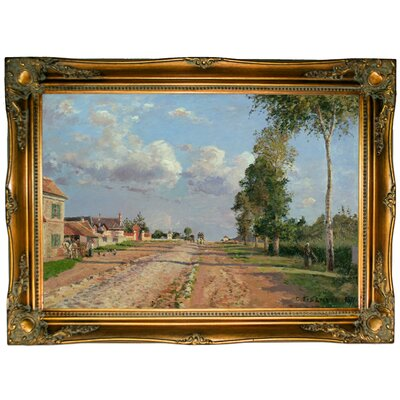 'Route de Versailles, Rocquencourt 1871' Framed Graphic Art Print on Canvas Size: 24.5