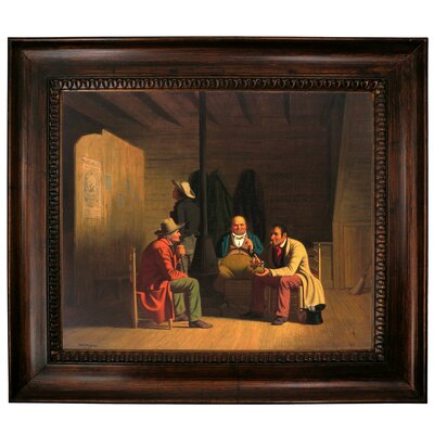 'Country Politician 1849' Framed Graphic Art Print on Canvas Size: 27
