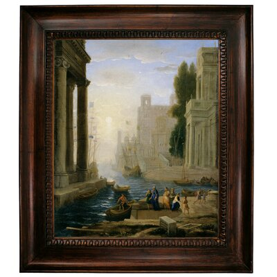 'Embarkation of St Paula' Framed Graphic Art Print on Canvas Size: 31