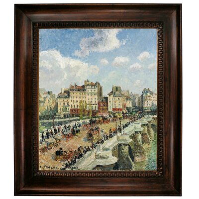 'The Pont-Neuf 1902' by Camille Pissarro Framed Graphic Art Print on Canvas Size: 31