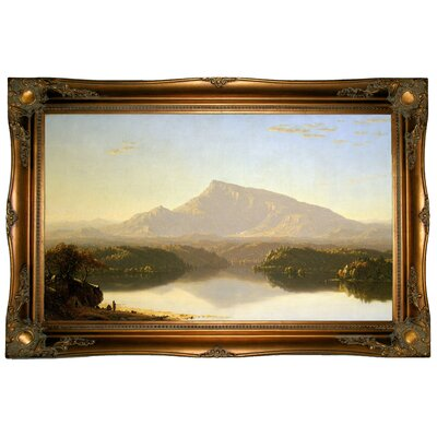 'Wilderness 1860' Framed Graphic Art Print on Canvas Format: Ornate Gold Frame, Size: 24.5