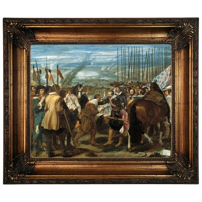 'The Surrender of Breda - The Lances' Framed Graphic Art Print on Canvas Size: 22.25