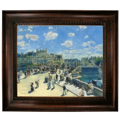 'Pont Neuf, Paris 1872' by Pierre-Auguste Renoir Framed Graphic Art Print on Canvas Size: 27