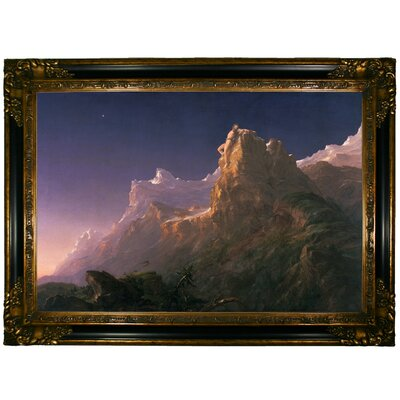 'Prometheus Bound 1847' Framed Graphic Art Print on Canvas Size: 24.25