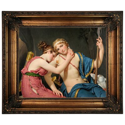 'The Farewell of Telemachus and Eucharis 1818' Framed Graphic Art Print on Canvas Size: 22.25