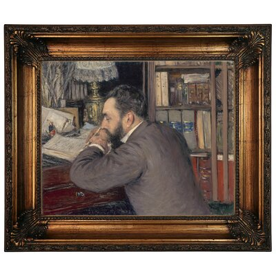 'Henri Cordier 1883' Framed Graphic Art Print on Canvas Size: 22.25