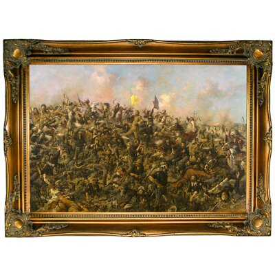 'Custer's Last Stand 1899' Framed Graphic Art Print on Canvas Size: 24.5