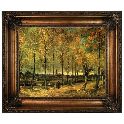 'Lane with Poplars' by Vincent van Gogh Graphic Art Print on Canvas Size: 22.25