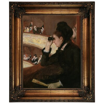 'In the Loge 1878' by Mary Cassatt Framed Graphic Art Print on Canvas Size: 26.25