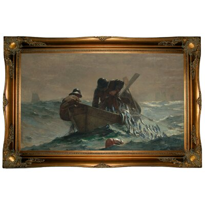 'The Herring Net' by Winslow Homer Framed Graphic Art Print on Canvas