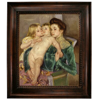 'The Caress 1902' by Mary Cassatt Framed Graphic Art Print on Canvas Size: 15.25