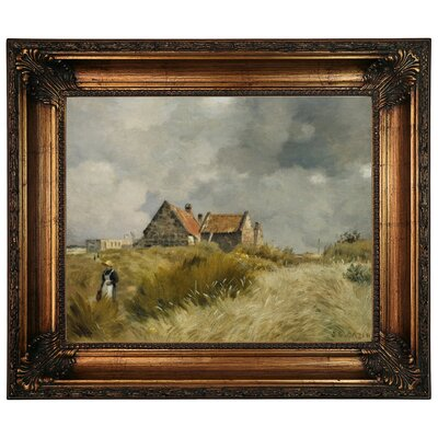'Cottage in the Dunes' Framed Graphic Art Print on Canvas Size: 22.25