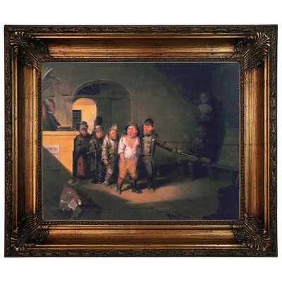 'Justice 1860' Framed Graphic Art Print on Canvas Size: 22.25