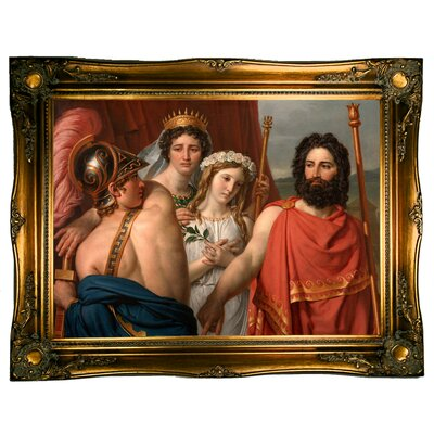 'The Anger of Achilles 1819' Graphic Art Print on Canvas