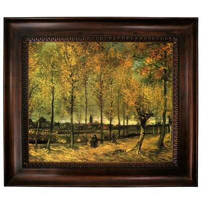 'Lane with Poplars' by Vincent van Gogh Graphic Art Print on Canvas Size: 27