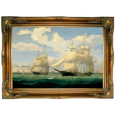 'The Ships Winged Arrow and Southern Cross in Boston Harbor 1853' Graphic Art Print on Canvas Size: 24.5