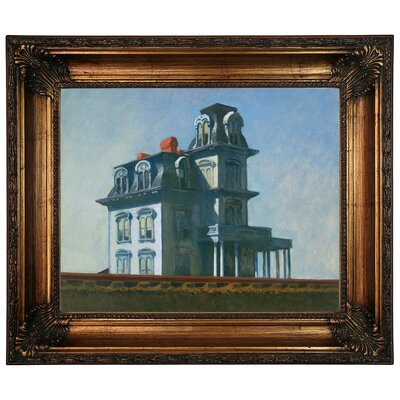 'The House' by Edward Hopper Framed Graphic Art Print on Canvas Size: 22.25