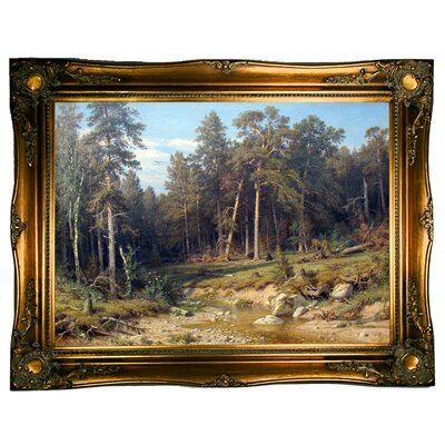 'Pine Forest 1872' Framed Graphic Art Print on Canvas