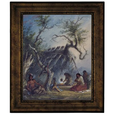 'Indian Lodge 1858' Framed Graphic Art Print on Canvas Size: 12.75