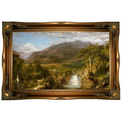 'The Heart of the Andes 1859' Framed Graphic Art Print on Canvas Size: 24.5