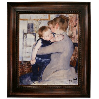 'Mother and Child' by Mary Cassatt Framed Graphic Art Print on Canvas Size: 31