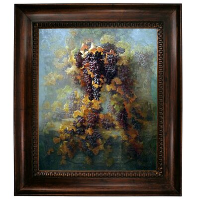 'Grapes and Architecture 1907' Framed Graphic Art Print on Canvas Size: 31