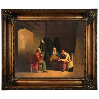 'Country Politician 1849' Framed Graphic Art Print on Canvas Size: 22.25